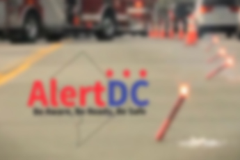 Traffic stop with AlertDC logo