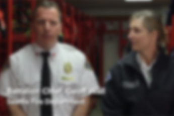 First responders talking