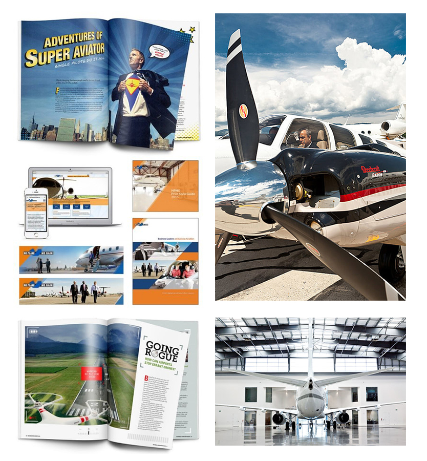 NBAA magazine with airplanes