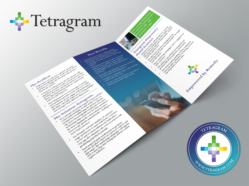 Tetragram brochure and logo